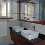 Large double vanity bathroom in our 75m2 Penthouse