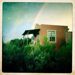 Our private cottage and a fantastic rainbow