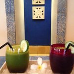 Green Juice at the Spa Juice Bar. My morning delight!