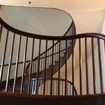 Double spiral staircase in the Trustee's House