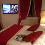 Double bed & TV