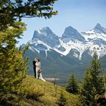 Glorious mountain views can be found in Canmore, Alberta