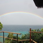Rainbow viewed from our deck - Villa #5