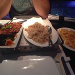 Crispy duck and chicken fried rice