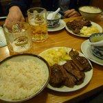 牛たん ランチとビール