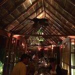 A view from inside The Hidden Garden restaurant
