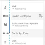 This is the metro route from hotel to Alfama