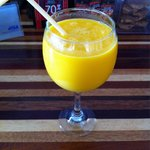 Mango-Coconut milk smoothie
