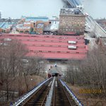Looking down the Mon Incline to Station Square