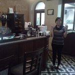 well stocked bar area.