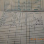 Guest log picture in absence of reciept , row no 26