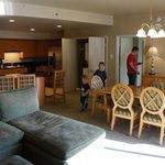 Huge kitchen,dining,living room