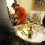 Sampling Cheeses