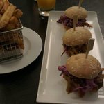 Pulled pork sliders with chips for dinner. A very good choice.