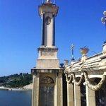 one of the pillar at putrajaya bridge