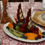 A Sail Boat Fruit Tray for two.