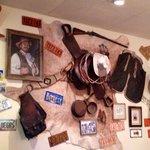 Creative cowboy memorabilia.