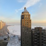 morning view to Lake Michigan (from room #2735)