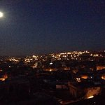 View from terrace - moonlit night