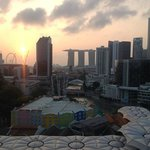 View from our room at sunrise. We thought it was the best view in Singapore.