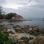 Вид из виллы на private beach