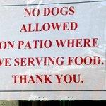 English sign.
