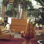Comfy seating in the atrium