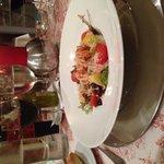 Cena ensalada de marisco