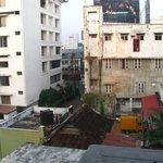 View from room, nettipadam rd.(lane) meets MG rd.