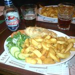 Chips and beer!