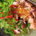 Grilled pork salad.. Very very tasty.. Perfect for people who can eat spicy food...
