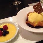 Lemongrass brûlée.. Very very unique dessert.. Love it! The custard pudding is very well done.