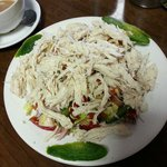Chicken salad with a tasty dressing :)