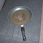 Frying pan was in sorry state