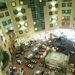 Вид из номера на холл отеля