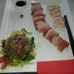 a fresh fish platter