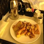 Breakfast room service - French toast with maple syrup. Excellent and huge!