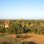 great view of Bagan from hotel observation tower