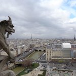 Вид на Париж с площадки Собора