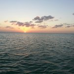 Sunset view from the Charter boat
