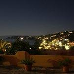 Utsikten från rummet nattetid