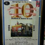 certificate for 10 years in the Good Beer Guide