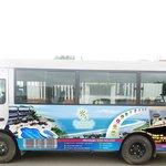 Autobus para traslados de los clientes
