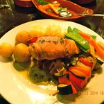 Oven Cooked Fillet of Chicken with Veg and Potato sides