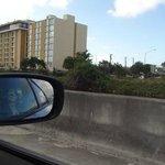 Vista do hotel no caminho para a turnpike