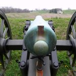Union cannon, looking out onto the Confederate side