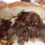 1/2 of the BBQ beef sandwich