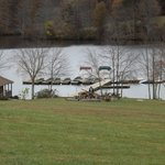 Boat slips behind clubhouse