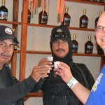 Tequila samples at end of Zip lining