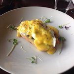 Fabulous eggs benedict with smoked salmon